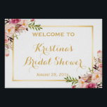 "Bridal Shower Sign Elegant Chic Floral Gold Frame<br><div class=""desc"">Bridal Shower Sign Elegant Chic Floral Gold Frame Poster Template - A Perfect Design for you. (1) The default size is A4 (11.69 &#215; 8.27 inches), you can change it to any size. (2) All text style, colors, sizes can also be modified to fit your needs. (3) If you need...</div>"