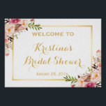 """Bridal Shower Sign Elegant Chic Floral Gold Frame<br><div class=""""desc"""">Bridal Shower Sign Elegant Chic Floral Gold Frame Poster Template - A Perfect Design for you. (1) The default size is A4 (11.69 &#215; 8.27 inches), you can change it to any size. (2) All text style, colors, sizes can also be modified to fit your needs. (3) If you need...</div>"""