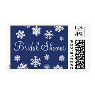 Bridal Shower Snowflakes Postage