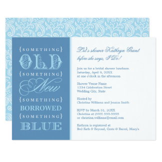 Bridal Shower | Something Old New Borrowed Blue Card