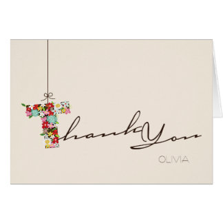 Bridal Shower Spring Flowers T Thank You Note Card