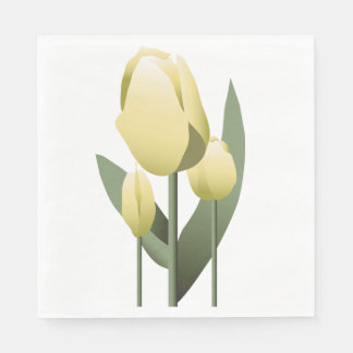 Bridal Shower Spring Yellow Tulip Napkin