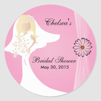 Bridal Shower Sticker Round Sticker
