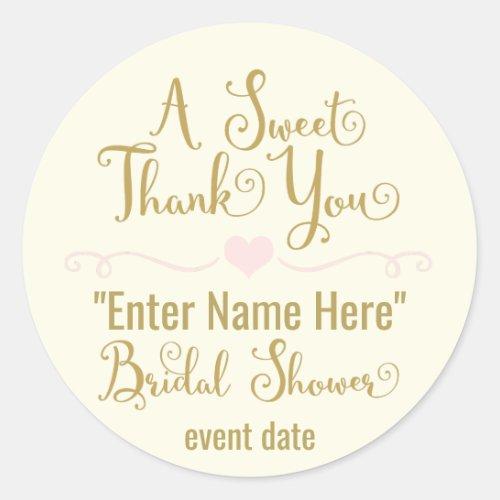 BRIDAL SHOWER STICKER  a sweet thank you