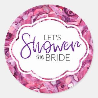 Bridal Shower Sticker - Let's Shower the Bride