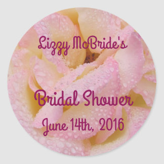 Bridal Shower Sticker with Peace Rose