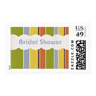 Bridal Shower - Stripes Postage