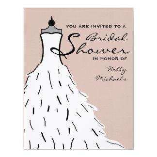Bridal Shower - Stylish Wedding Dress Custom Color Card