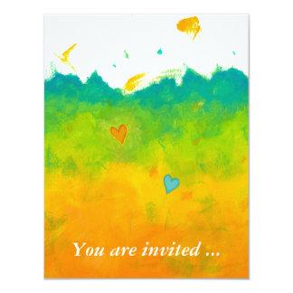 Bridal shower Summer Love unique whimsical art Card