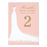 Bridal Shower Table Number Cards | Blush + Antique (<em>$1.90</em>)