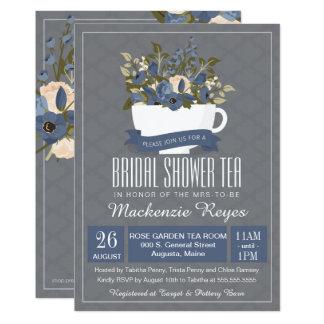Bridal Shower Tea Invitation, Tea Party Card