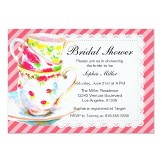 Bridal Shower Tea Party Card