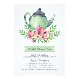 Bridal shower tea party invitations announcements zazzle bridal shower tea party card filmwisefo Image collections