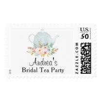 Bridal Shower Tea Party Custom Floral Postage