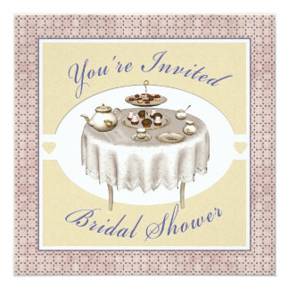Bridal Shower Tea Party Desserts Square Invitation