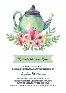 Bridal shower tea party invitations announcements zazzle bridal shower tea party invitation filmwisefo