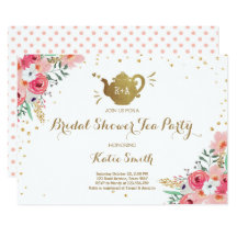 Bridal shower tea party invitations announcements zazzle filmwisefo Image collections