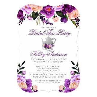 Bridal Shower Tea Party Purple Violet Invite B