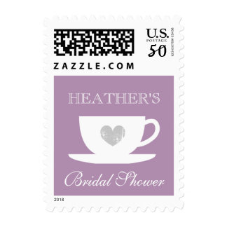 Bridal shower tea party stamps with cup and saucer