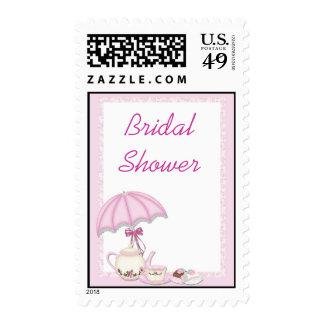 Bridal Shower Tea Pink Postage