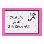 Bridal Shower Thank You Card -- Bridal Umbrella