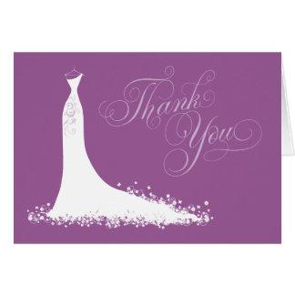 Bridal Shower Thank You Card Folded   Wedding Gown
