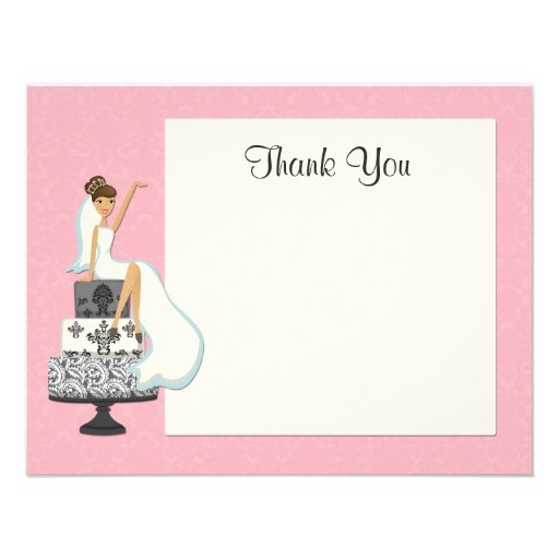 Bridal Shower Thank You Card X 5 5 Invitation Card Zazzle