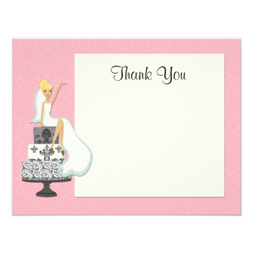 Bridal Shower Thank You Card Personalized Invitation from Zazzle.com