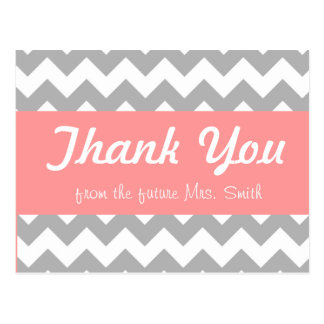 bridal shower thank you card postcard