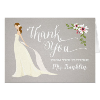 Bridal Shower Thank You Card - Strawberry Blonde