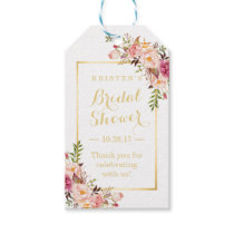 Bridal Shower Thank You Elegant Chic Flowers Gift Tags