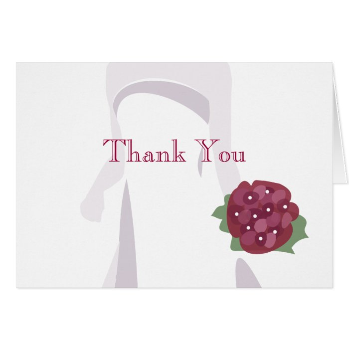 Bridal Shower Thank You Note Cards Zazzle