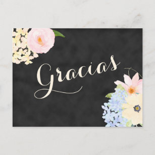 bridal shower thank you note in spanish invitation postcard