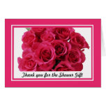 Bridal Shower Thank You Notes -- Rose bouquet Card