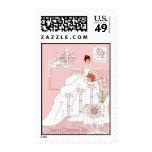 Bridal Shower Thank You Postage Stamp