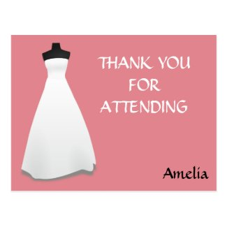 Bridal Shower Thank You Postcard