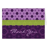 Bridal Shower Thank You Purple Lime Green Lace Cards
