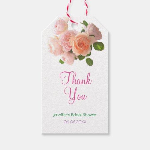 Bridal Shower Thank You Script Modern Elegant Gift Tags