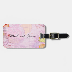 bridal shower travel theme luggage tag