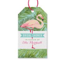 Bridal Shower   Tropical Flamingo Mahalo Gift Tags