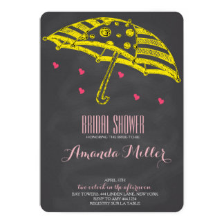 Bridal Shower Umbrella Chalkboard Invitations