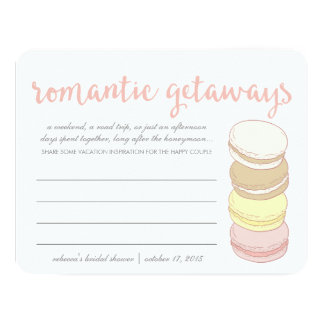 Bridal Shower Vacation Idea Cards | French Macaron