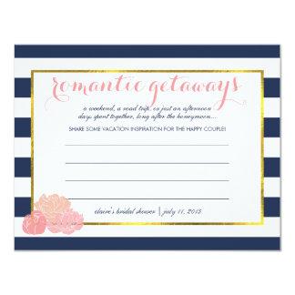 Bridal Shower Vacation Ideas Midnight Blush Peony Card