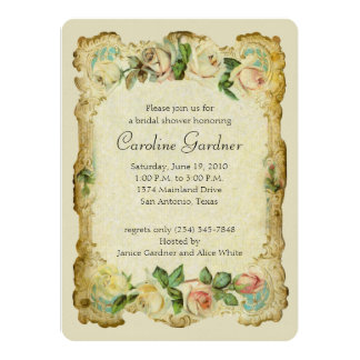 Bridal Shower Vintage Frame Card