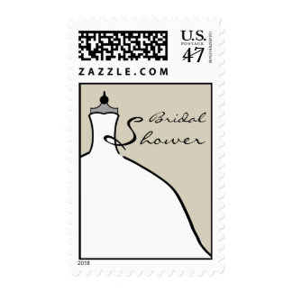 Bridal Shower Wedding Dress - Custom color Postage