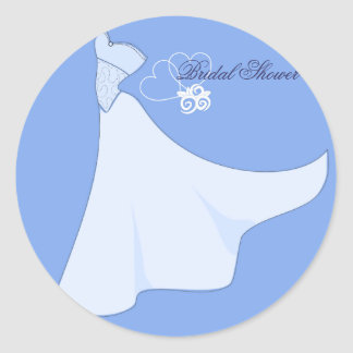 Bridal Shower Wedding Dress Sticker