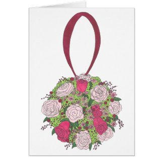 Bridal Shower Wedding Floral Rose Bouquet Card