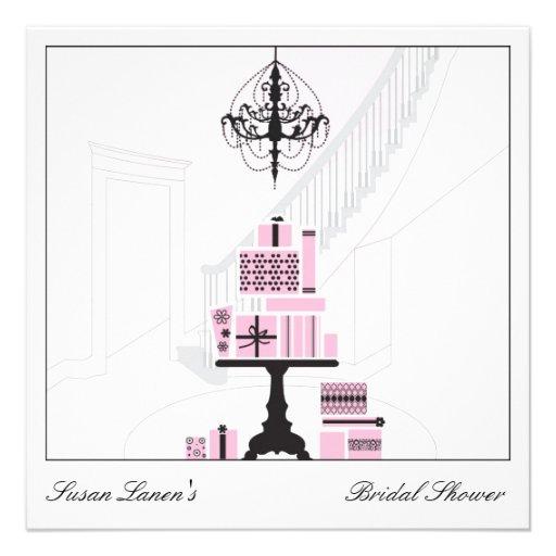 Wedding Gift Using Invitation : Bridal Shower Wedding Gift Table Invitation 5.25