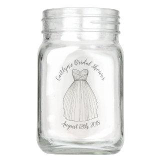 Bridal Shower Wedding Gown Centerpiece Bride Mason Jar