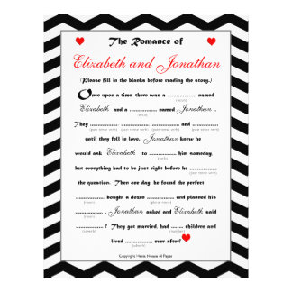Bridal Shower Wedding Libs Game - Chevron Flyer